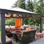 Back yard seating area