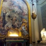 Painting and statue - San Giovanni in Laterano