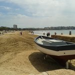 View from the marina back to Salou