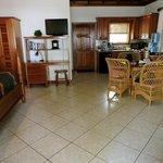 Beach Casita dining area & kitchen