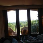 View from the bed at the tented camp, tent No. 5.