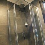 Spacious shower.