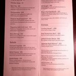 Miranda menu 3/29/14 at EB Hotel