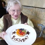 86 and a cake at Chatsworth House!