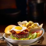 The breakfast burger - Brunch every weekend and holiday until 3 pm.