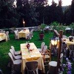 Dinner in the lemon garden