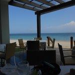 Beach side dinning