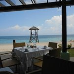 View of the beach from Port Maria restaurant