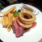 steak and oinion rings #nomnom