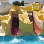 Kiddies water slides.
