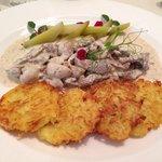 Kartoffel pandekager og stroganoff