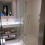 En-suite shower room: shower, sink & toilet