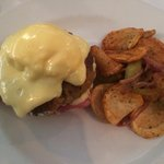 Crab cake Benedict, stomach problems to follow.