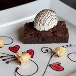 raspberry and chocolate brownie