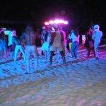 Saturday night beach party outside Gabi Beach
