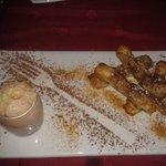 Croustillants à la banane, cannelle et mousse au nutella