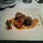 Steak main course Gaudi restaurant.