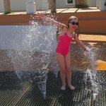 Sprinklers at the pool