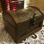 A cute little treasure awaits your guests along with your bill. So sweet! An awesome idea, you w