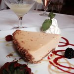 Key lime pie with key lime martini!
