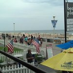 Sitting on the porch overlooking the boardwalk/beach