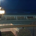 Night view from the porch of the boardwalk/beach