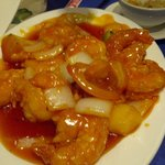 King prawns sweet and sour