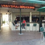 Visit the outdoor patio and bar
