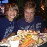 Nick and I at Bahama Bobs. Killer seafood.