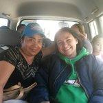 Saliendo del Hostal para el Cotopaxi con la Sra. Olga