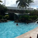 Hotel Pool is beautiful with the Waterfall