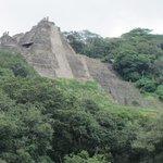 Toniná ruins peeking out of the jungle