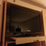 Television which could be pulled out and rotated for comfortable viewing