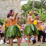 Lovely hula dancers