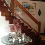Staircase to upstairs rooms