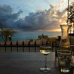 widok z mojego miejsca na niebo nad Bonaire