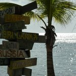 Sign post at Rum Point