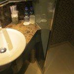 bathroom sink/shower