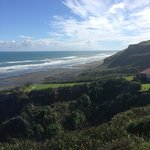 Actual view from Chalet of Kariotahi Beach