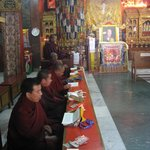 Buddhists in Tsamchen Gompa