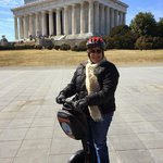 Departing from the Lincoln Memorial