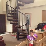 The kids LOVED the spiral stairs up to the loft.  We adults kept bumping into it.