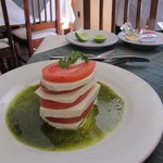 Nopal cactus tower at restaurant