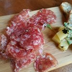 Premium Spanish salami made from acorn fed pigs + manchego