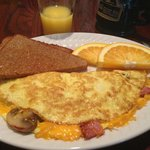 The omelet breakfast, delicious!