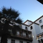 View of the hotel's inner courtyard.