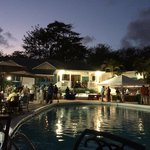 Main pool in the evening. Fun Tuesday party!
