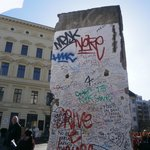 Art on a Berlin Wall piece