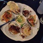 Oysters sampler $10.00.