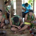 The boys at Sinalei talking about the Samoan culture.
